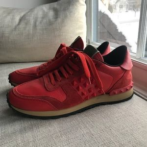 Valentino Women's Red Sneakers